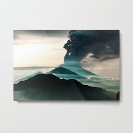 Mount Agung Volcanic Eruption Metal Print