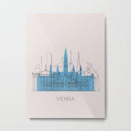 Vienna Landmarks Poster Metal Print