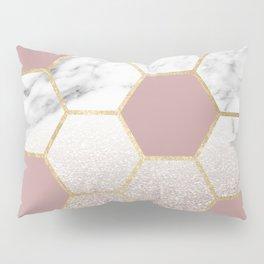 Cherished aspirations rose gold marble Pillow Sham