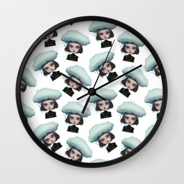Kiddodog - Kiddo rain pattern Wall Clock