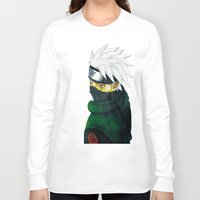 kakashi Long Sleeve T-shirts featuring Great Talent by BradixArt
