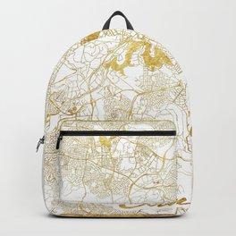 Canberra Map Gold Backpack