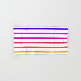 Warm lines Hand & Bath Towel