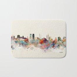 istanbul skyline Bath Mat