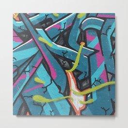 Abstrato Mout-Graffiti Metal Print