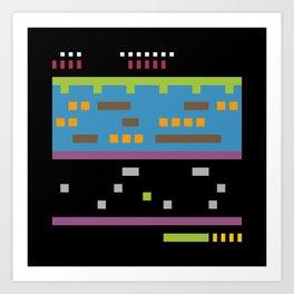 Minimal NES: Frogger Art Print