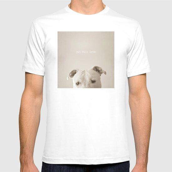 Pit bull love  T-shirt