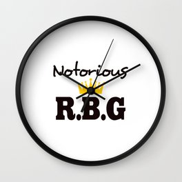 Notorious R.B.G Wall Clock