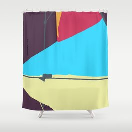 Kite—Aubergine Shower Curtain