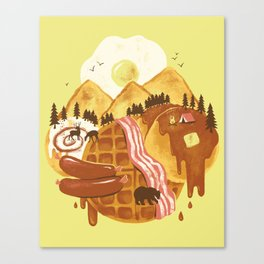 Breakfastscape Canvas Print