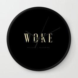 Woke 1 Dark Wall Clock
