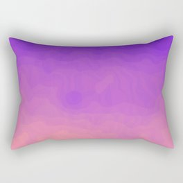 Pink and Purple Ombre - Swirly - Flipped Rectangular Pillow