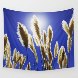 Backlit Blue Wall Tapestry