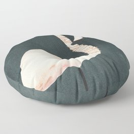 Flamingo and Crown Floor Pillow