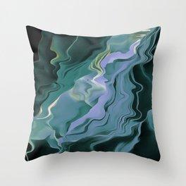 Teal Turbulence Throw Pillow