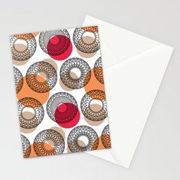 dots and ornate circles Stationery Cards