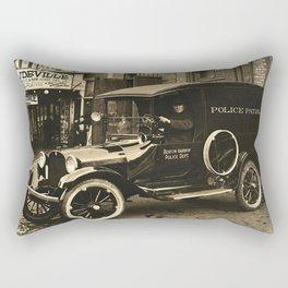 Vintage Police Car Rectangular Pillow