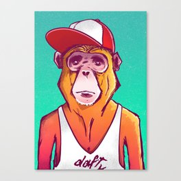 Macaco Prego Canvas Print