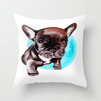 asia Throw Pillows featuring Asia by Lois Eyes