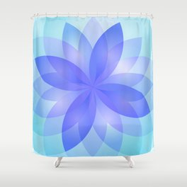 Abstract Lotus Flower G303 Shower Curtain