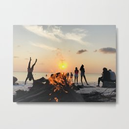 Sunset in Zanzibar, Africa Metal Print