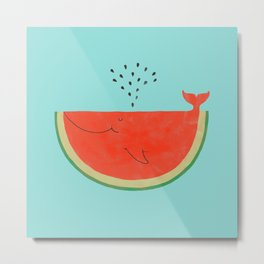 Don't let the seed stop you from enjoying the watermelon Metal Print