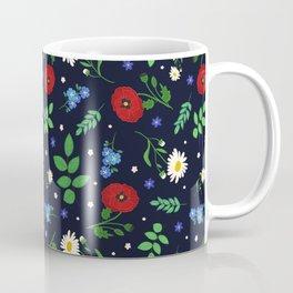 Swedish Folk Flowers Coffee Mug