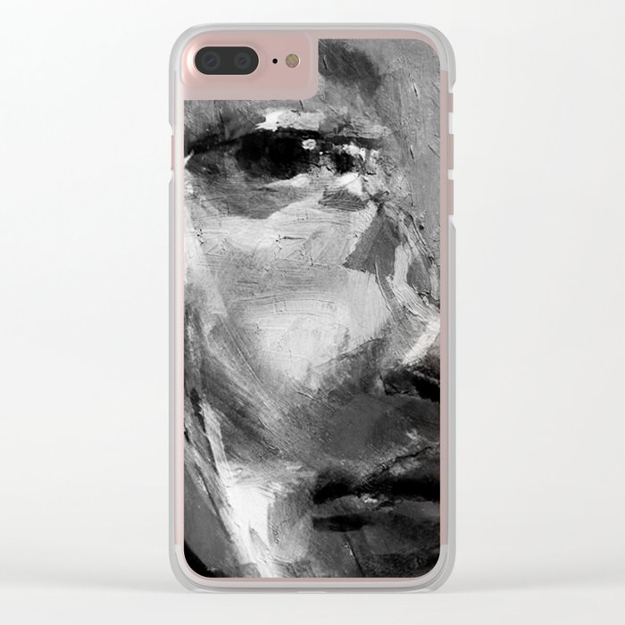 Gray Face Clear iPhone Case