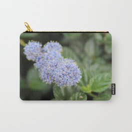 Blue Pon Pon Flower Carry-All Pouch
