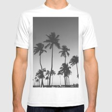 Palm Trees II White MEDIUM Mens Fitted Tee