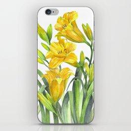 Yellow Day Lillies iPhone Skin
