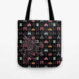 Gryphon on a Field of Castles Tote Bag