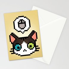 Pixel cat Stationery Cards