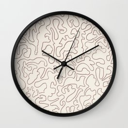 Puzzle Drawing #3 Chocolate Wall Clock