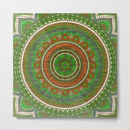 Hippie mandala 80 Metal Print