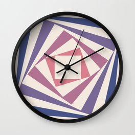Spinning Squares Palette IIII Wall Clock