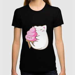 Ice cream lover chubby cat T-shirt