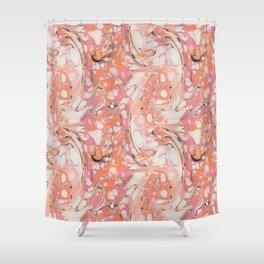 Ebru (Water Marble) Shower Curtain