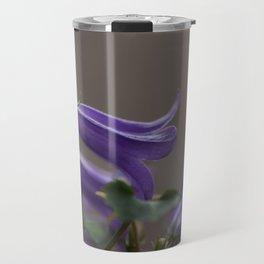 Purple Campanula Flowers Travel Mug