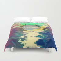 freedom Duvet Covers featuring FREEDOM by sametsevincer