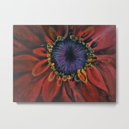 Red and Purle Flower Metal Print