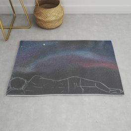 """Close your eyes, my dear, and dream of galaxies"" Rug"