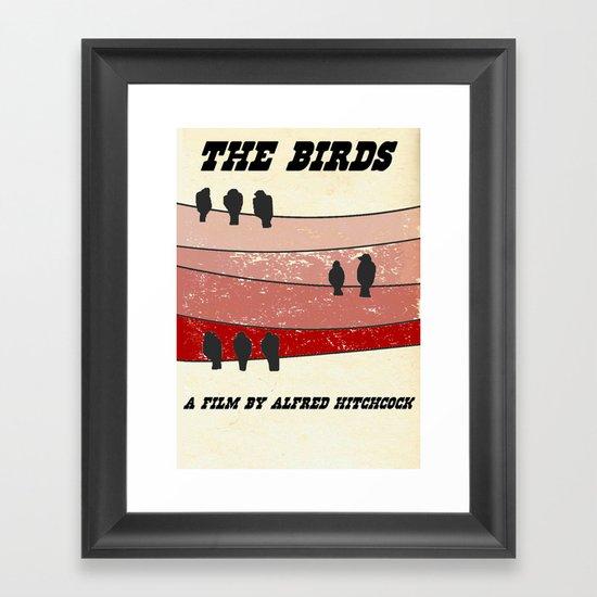 """Retro"" The Birds Framed Art Print"