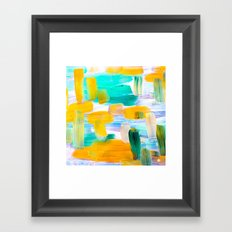 Paint strokes Framed Art Print