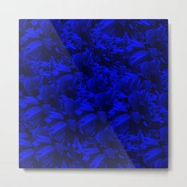 A202 Rich Blue and Black Abstract Design Metal Print