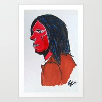 neil young Art Prints featuring Neil Young by Brian Shunk
