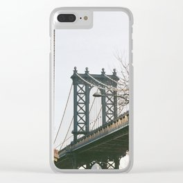 Williamsburg Bridge Views Clear iPhone Case