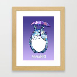 Kawaii Purple Ghibli Framed Art Print