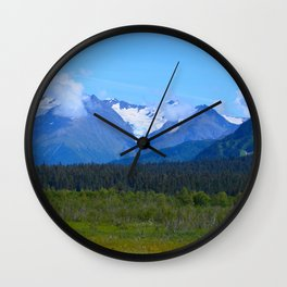 Mountain Glacier Wall Clock