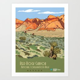Vintage Poster - Red Rock Canyon National Conservation Area, Nevada (2015) Art Print